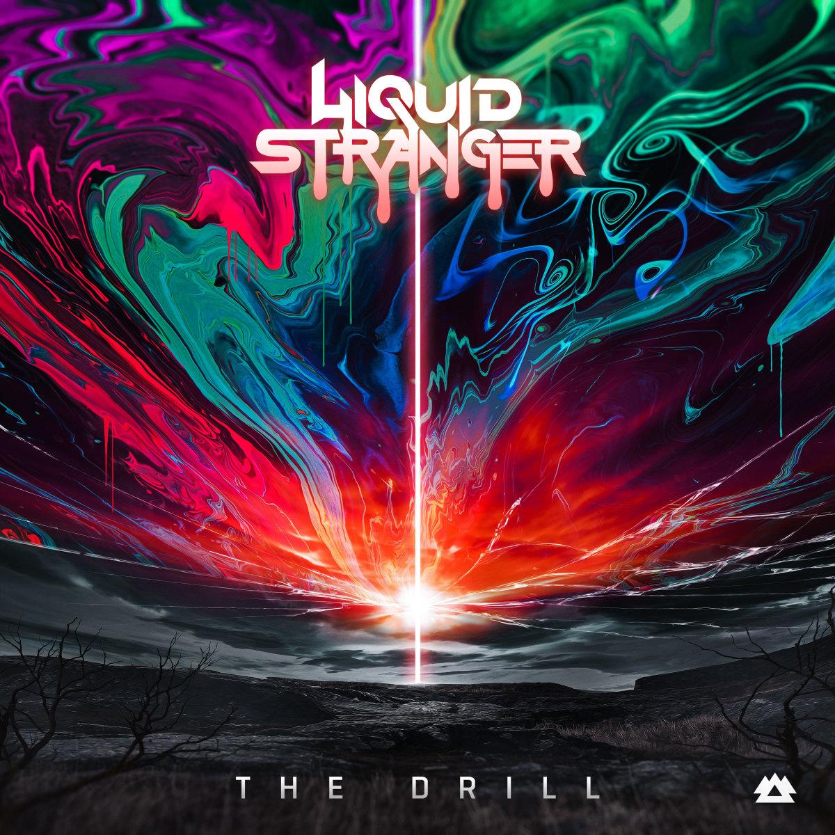 """Liquid Stranger's """"The Drill"""" artwork."""