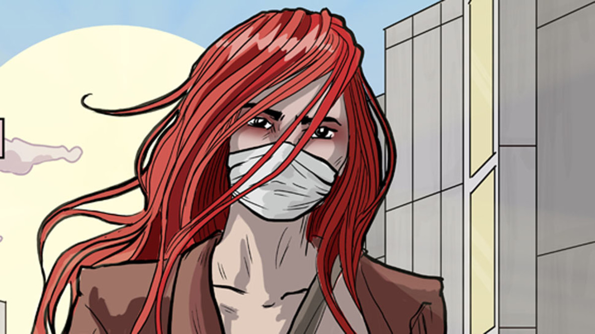 "Lights' ""Skin&Earth"" comic book series was written and drawn by the artist herself."