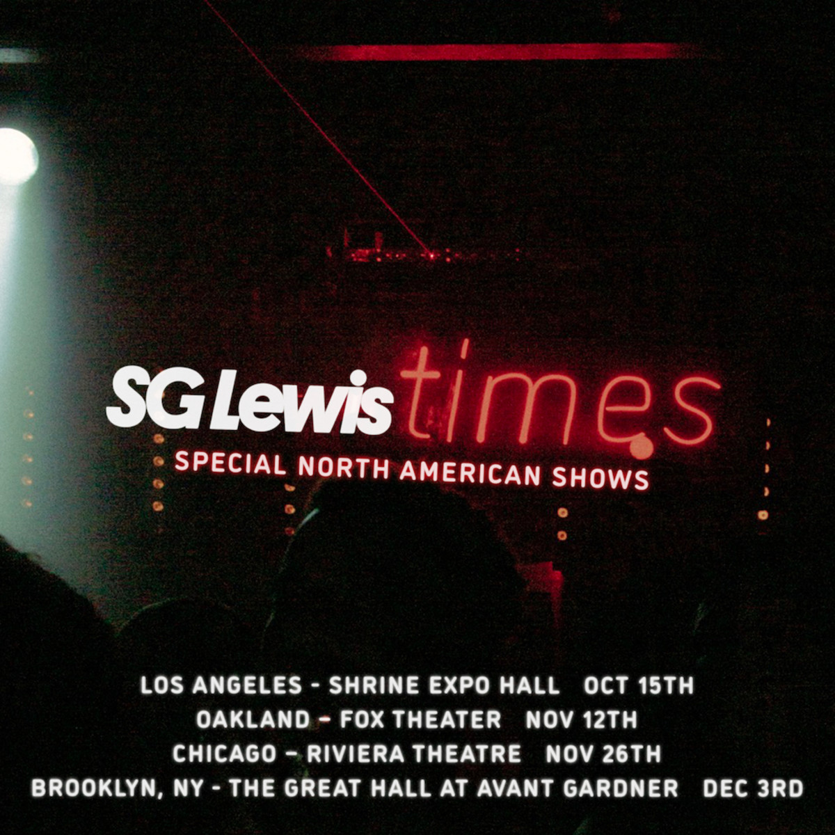 """SG Lewis will take his critically acclaimed """"times"""" album to select US cities for a headlining tour in 2021."""
