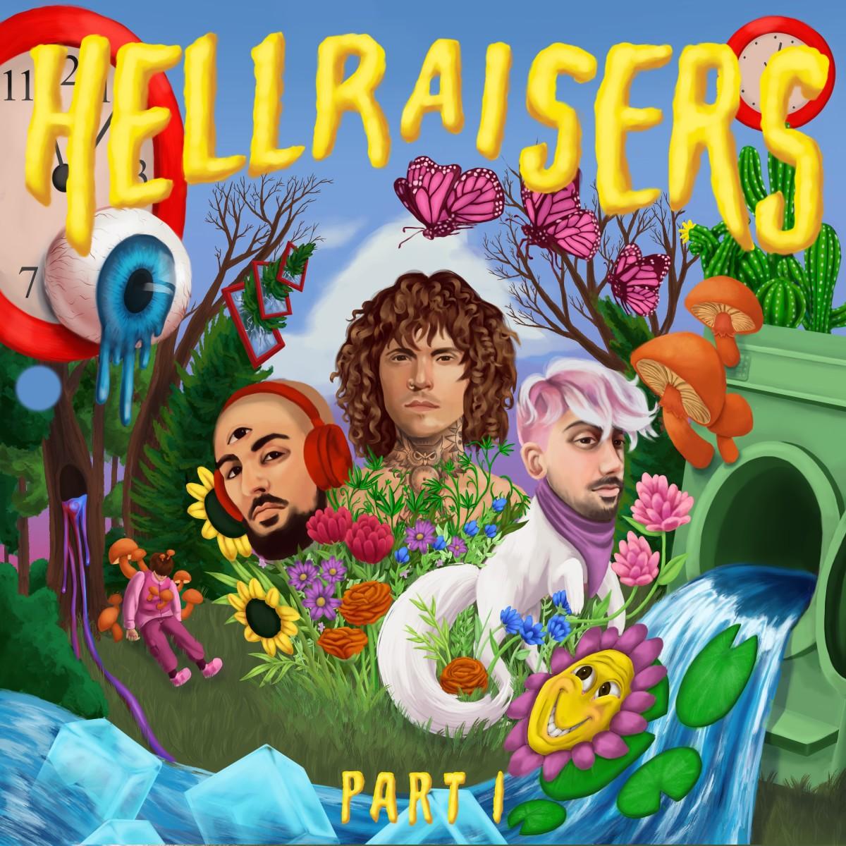"Official album artwork for Cheat Codes' debut album ""Hellraisers, Pt. 1"""