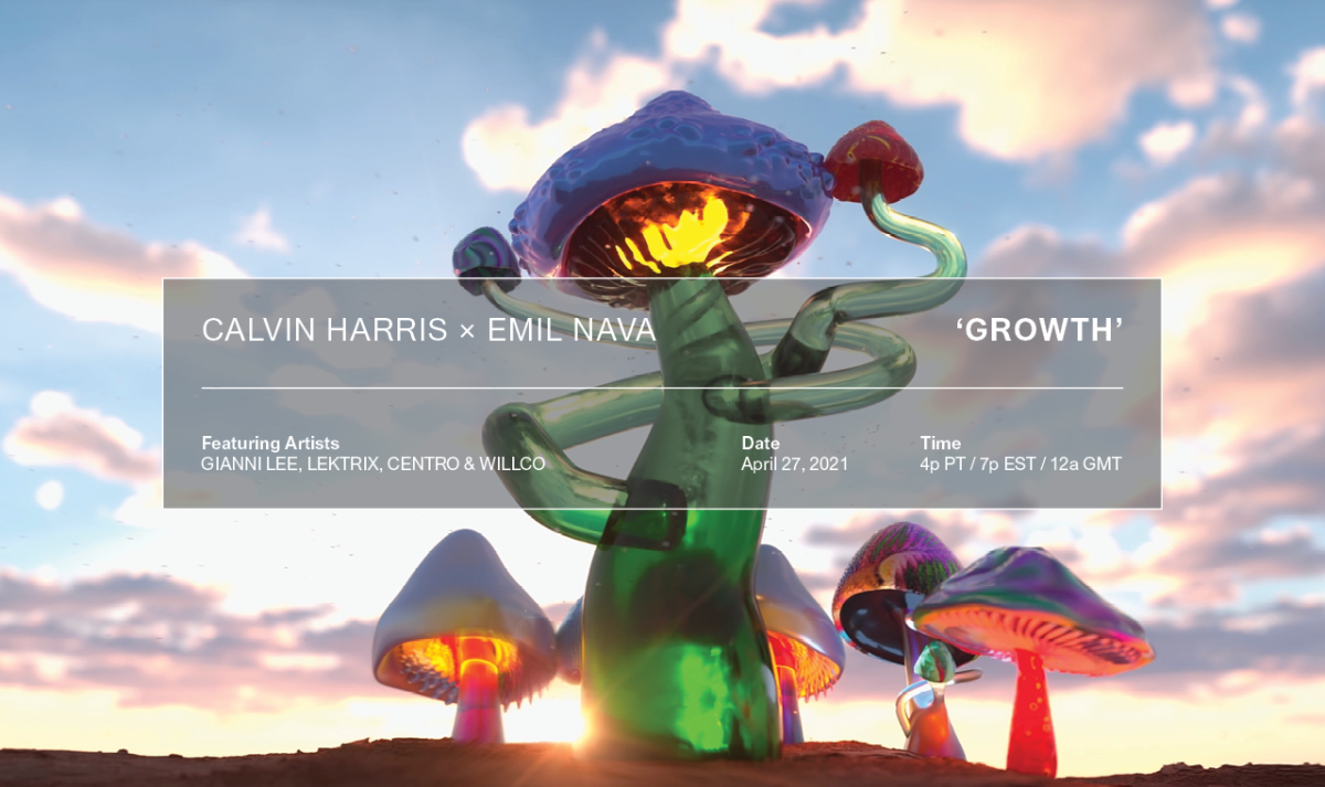 """Calvin Harris and Emil Nava join forces once again on """"Growth,"""" an NFT drop centered around the theme of constant evolution."""
