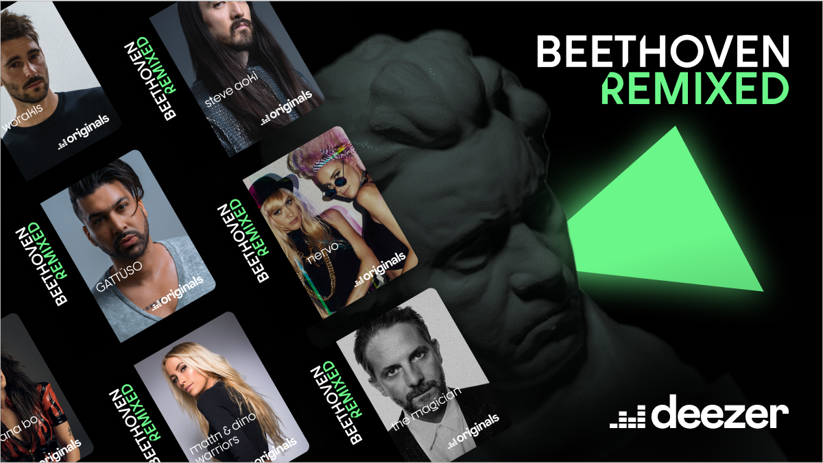 """Promo image for Deezer's """"Beethoven Remixed"""" compilation."""