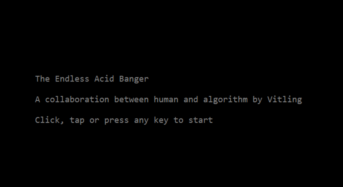 The Endless Acid Banger landing page.