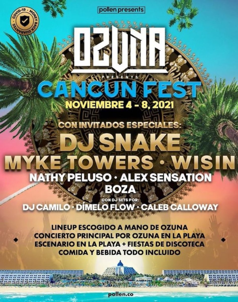 Lineup for Cancun Fest 2021