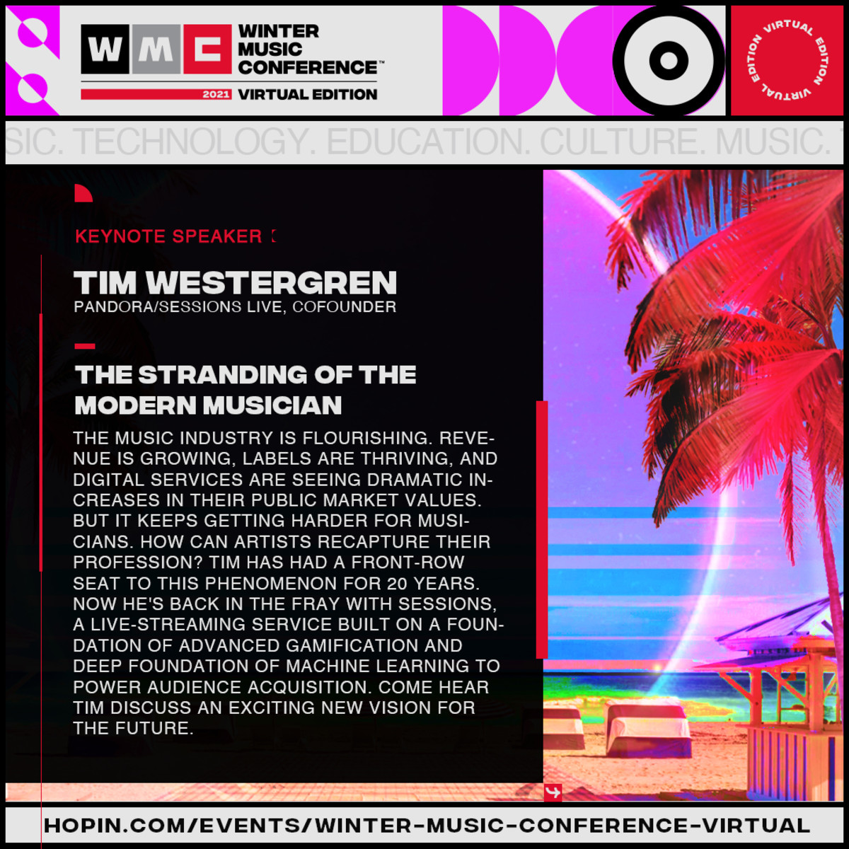 Keynote Description - Tim Westergren