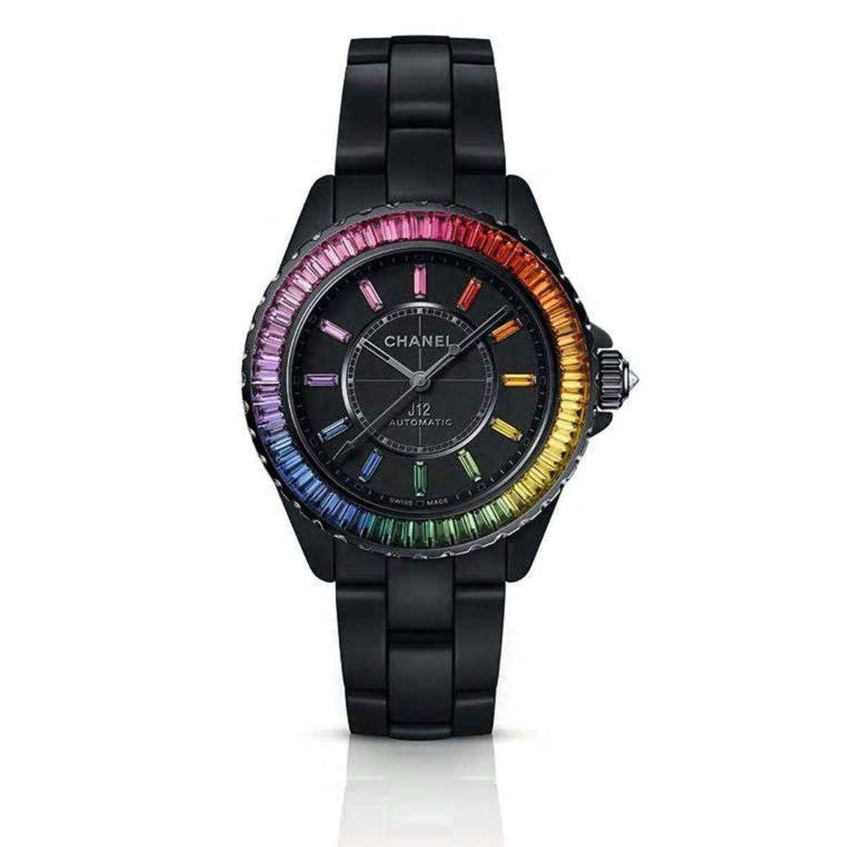 The Daft Punk-inspired J12 Chanel Electro watch in black.