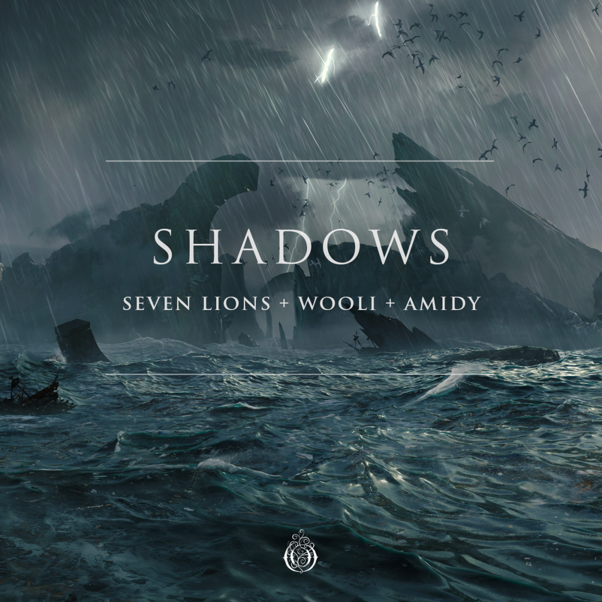 """Seven Lions, Wooli, and Amidy's """"Shadows"""" cover."""