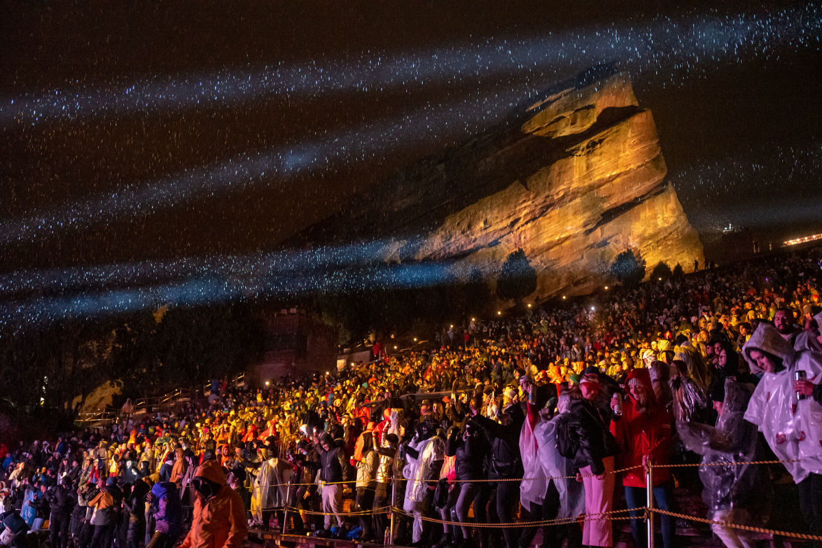 The crowd atZHU's DREAMROCKS show on Monday, May 3rd at Colorado's Red Rocks Amphitheatre.