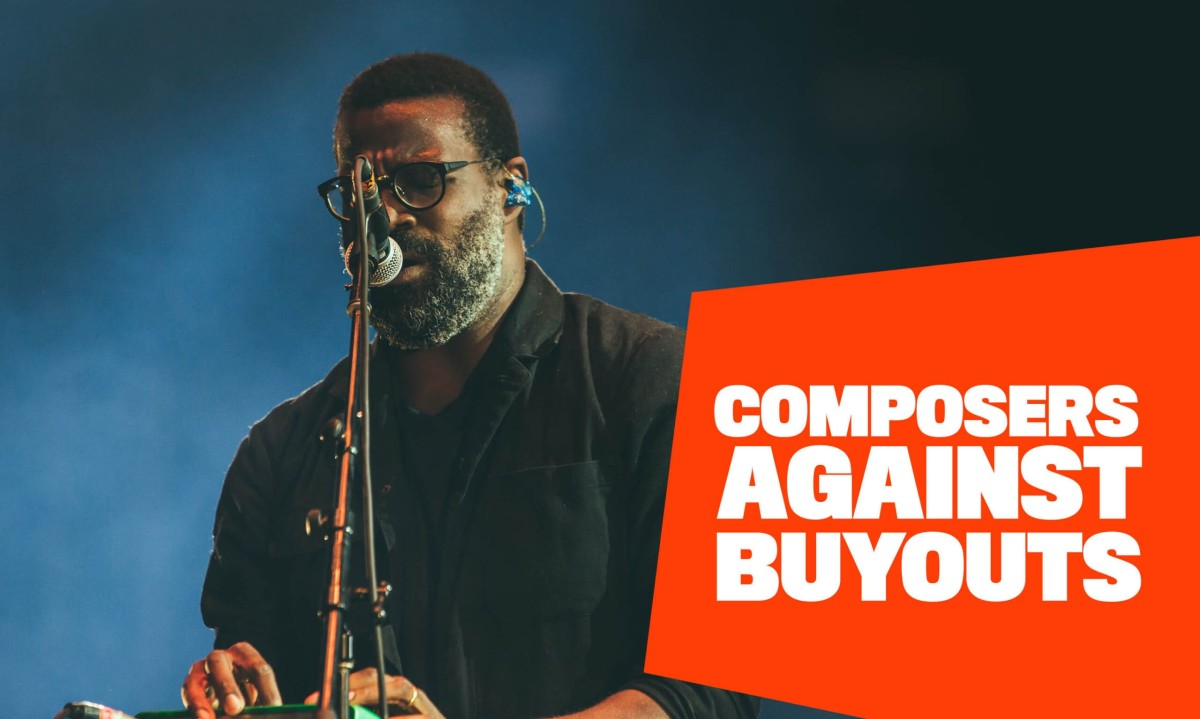 Imagery for the Ivors Academy and Musicians' Union's campaign against buyouts.