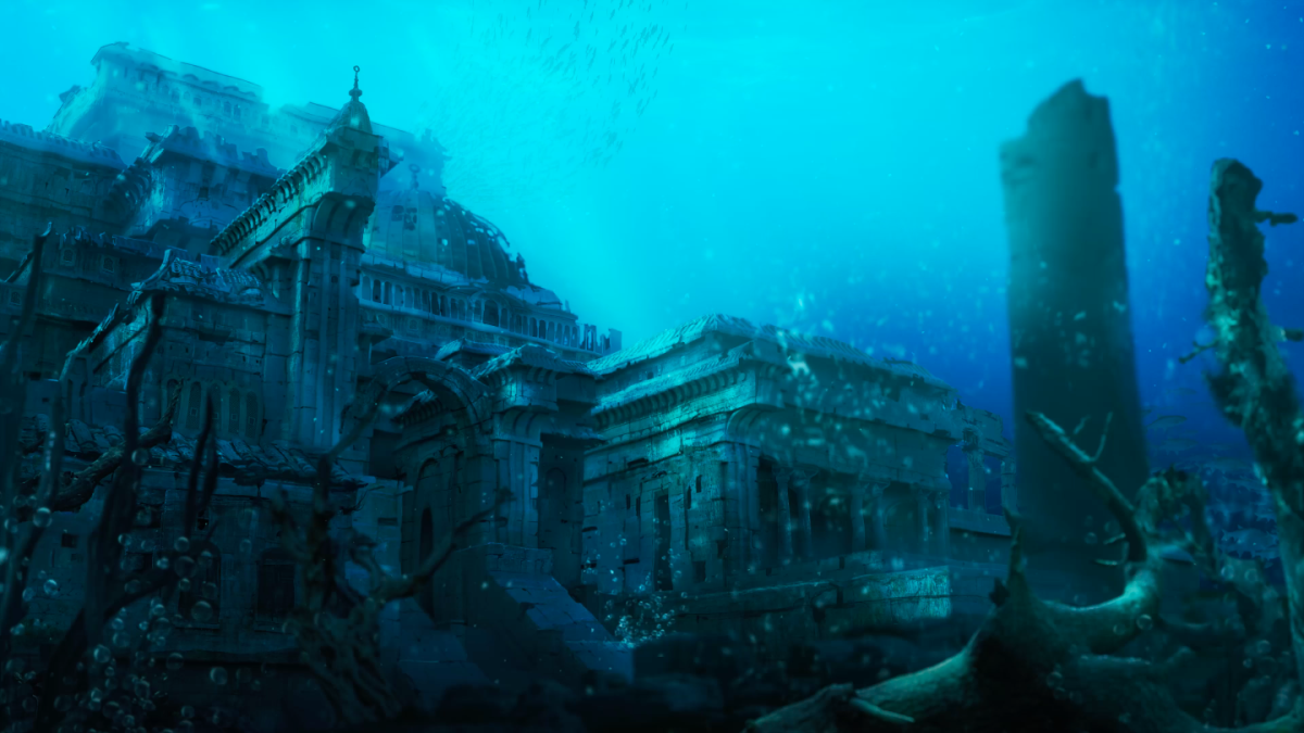 """A still from the NFT inspired by Seven Lions' """"Ocean"""" single."""