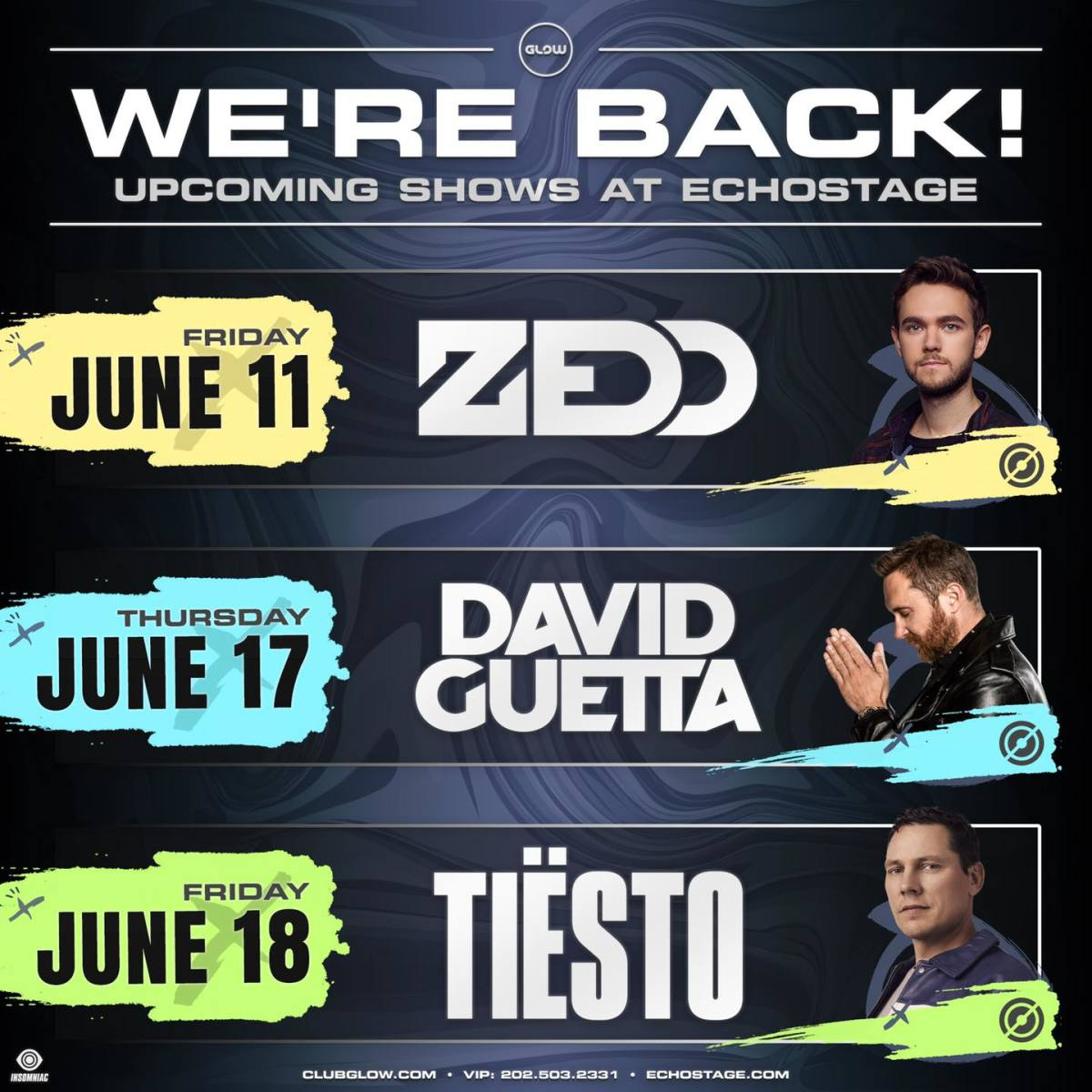D.C. venue Echostage is set to return in June 2021 withZedd, David Guetta, and Tiësto.