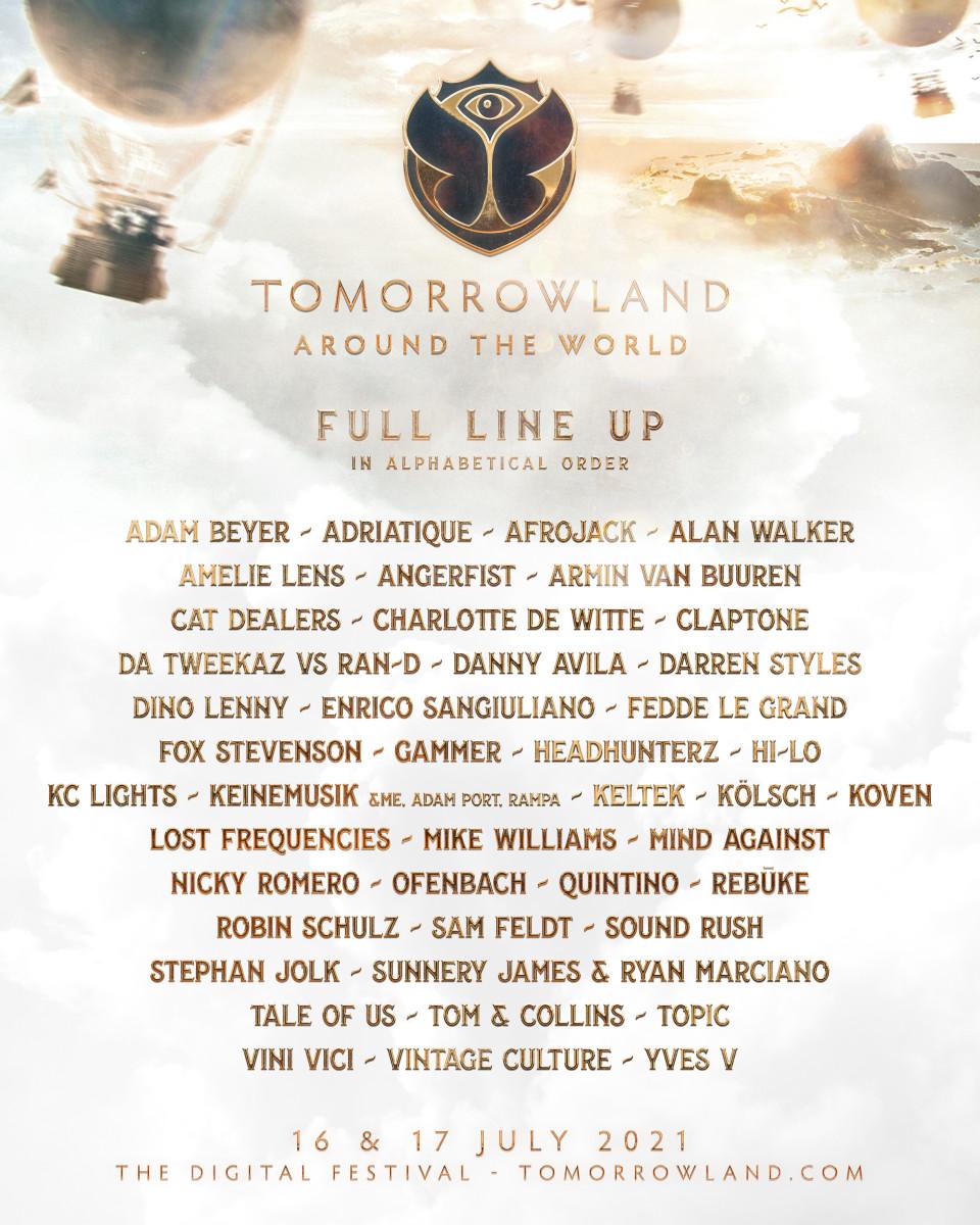 Tomorrowland+Around+the+World+2021+-+Line-up
