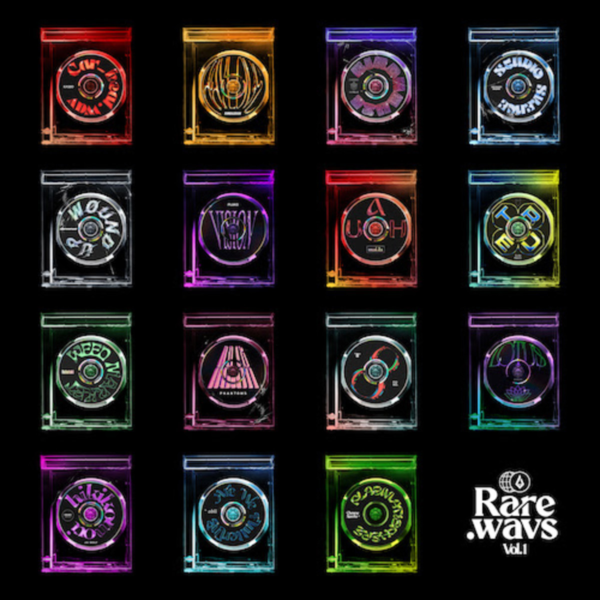 """Foreign Family Collective turned the cover arts for all of their """"Rare.wavs Vol. 1"""" cuts into NFTs."""