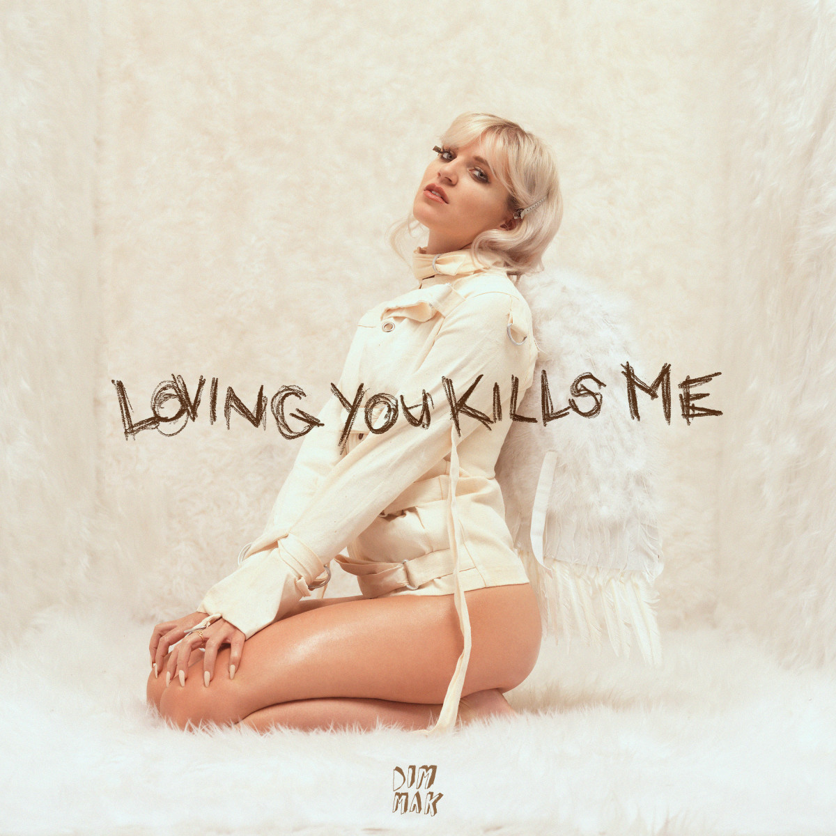 "Artwork for GG Magree's ""Loving You Kills Me"" on Dim Mak Records."