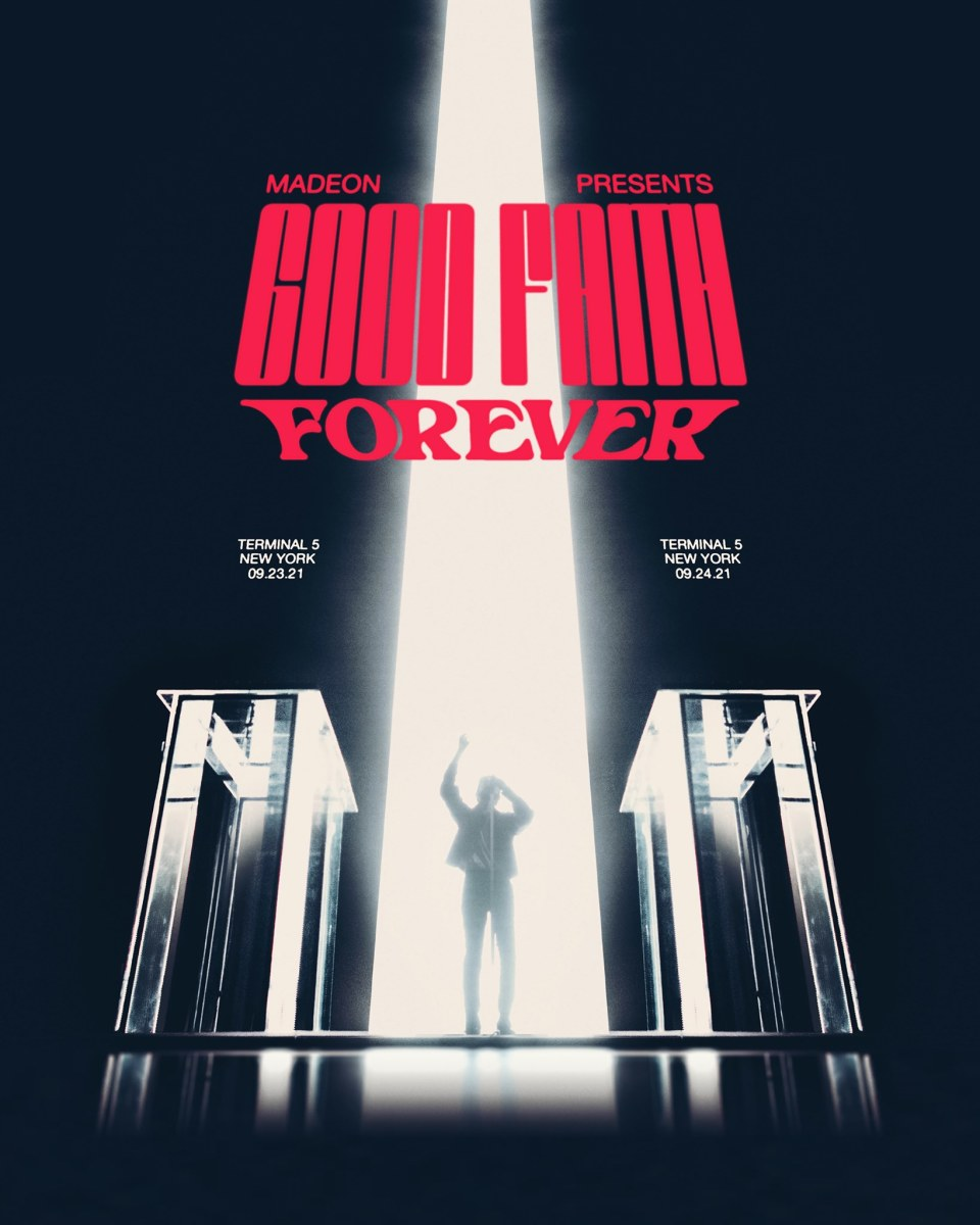 """Flyer for Madeon's """"Good Faith Forever"""" show at Terminal 5 in New York City."""