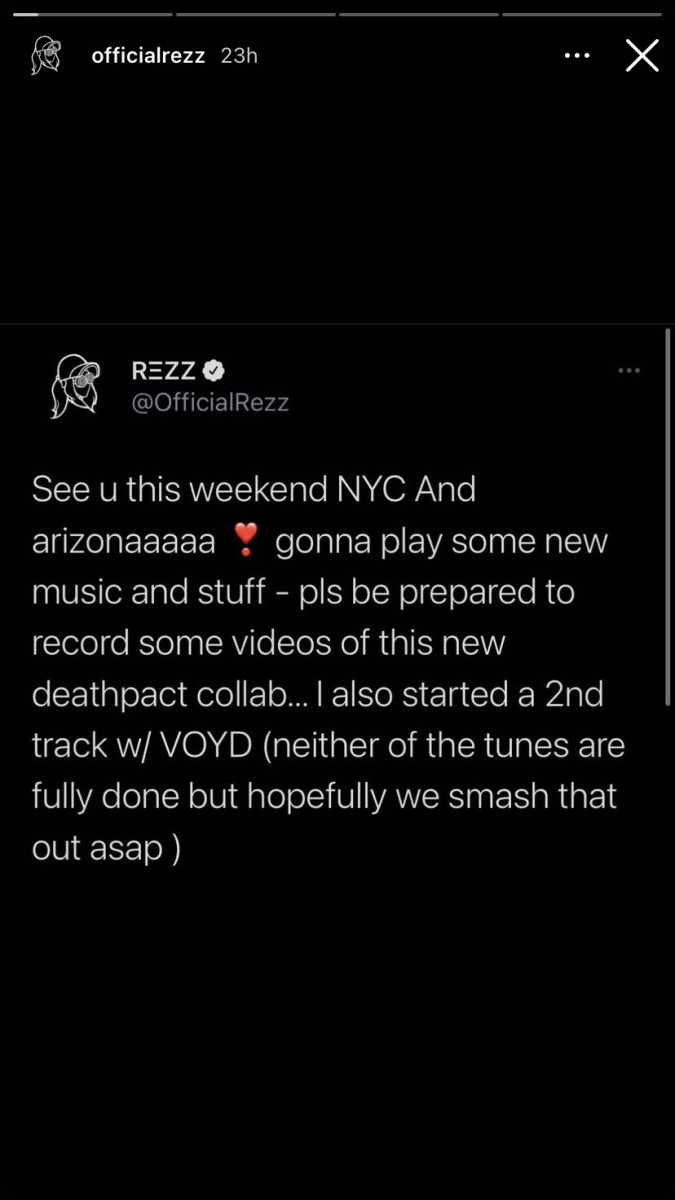REZZ revealed unreleased collaborations with Deathpact and SVDDEN DEATH's VOYD alias.