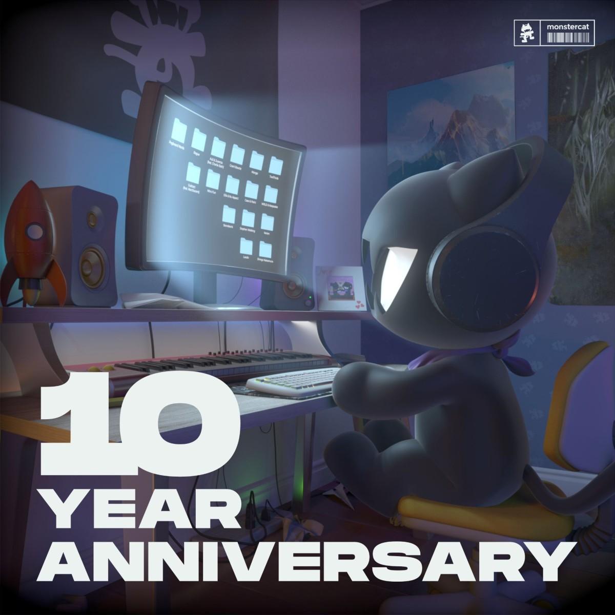 Album artwork for Monstercat's 10 Year Anniversary compilation.