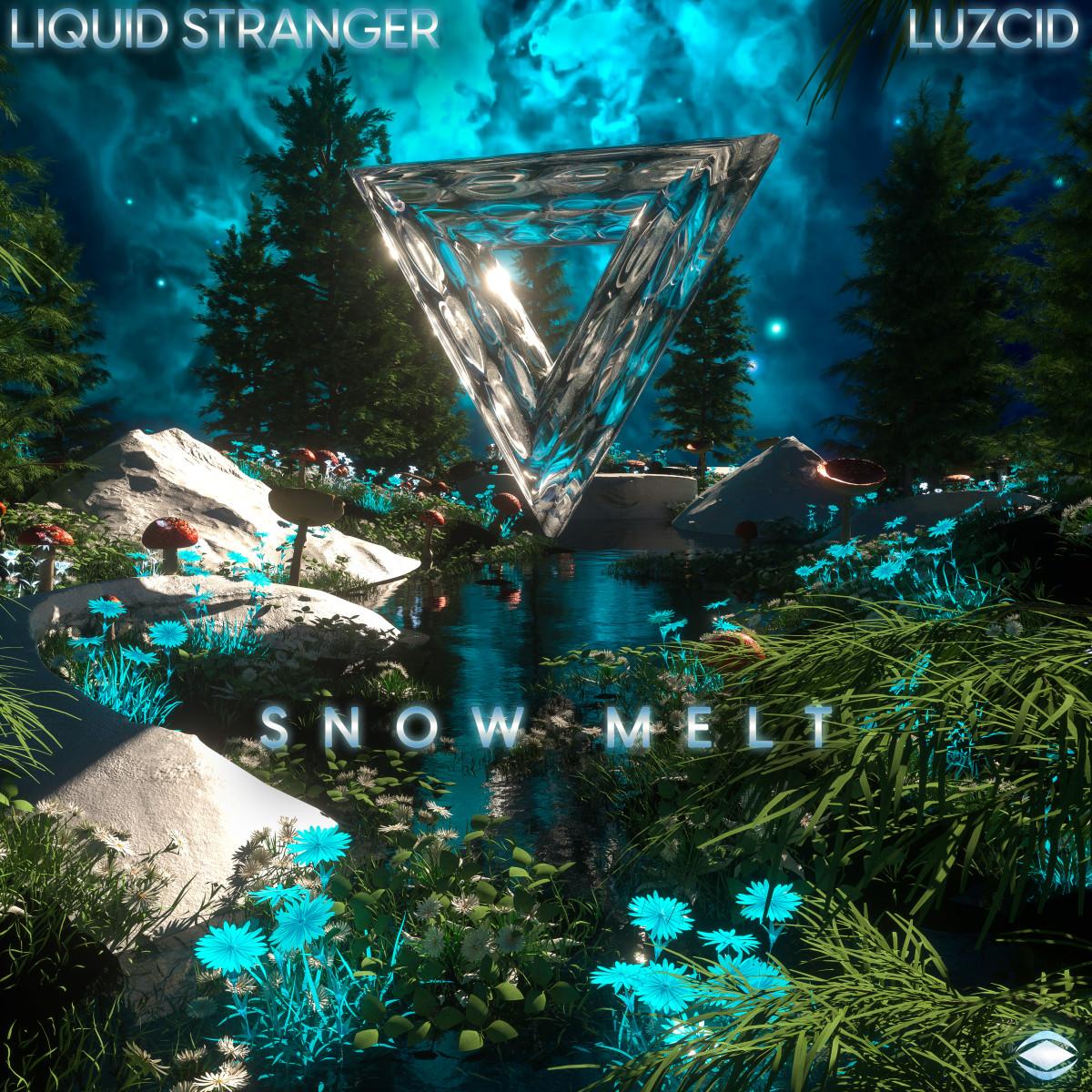 "Cover for Liquid Stranger and Luzcid's ""Snow Melt."