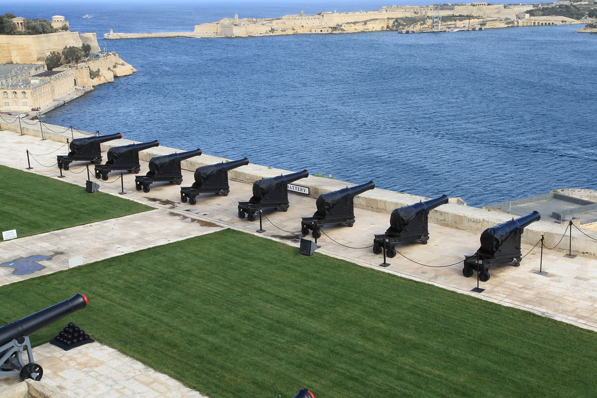 TheSaluting Battery in Malta.