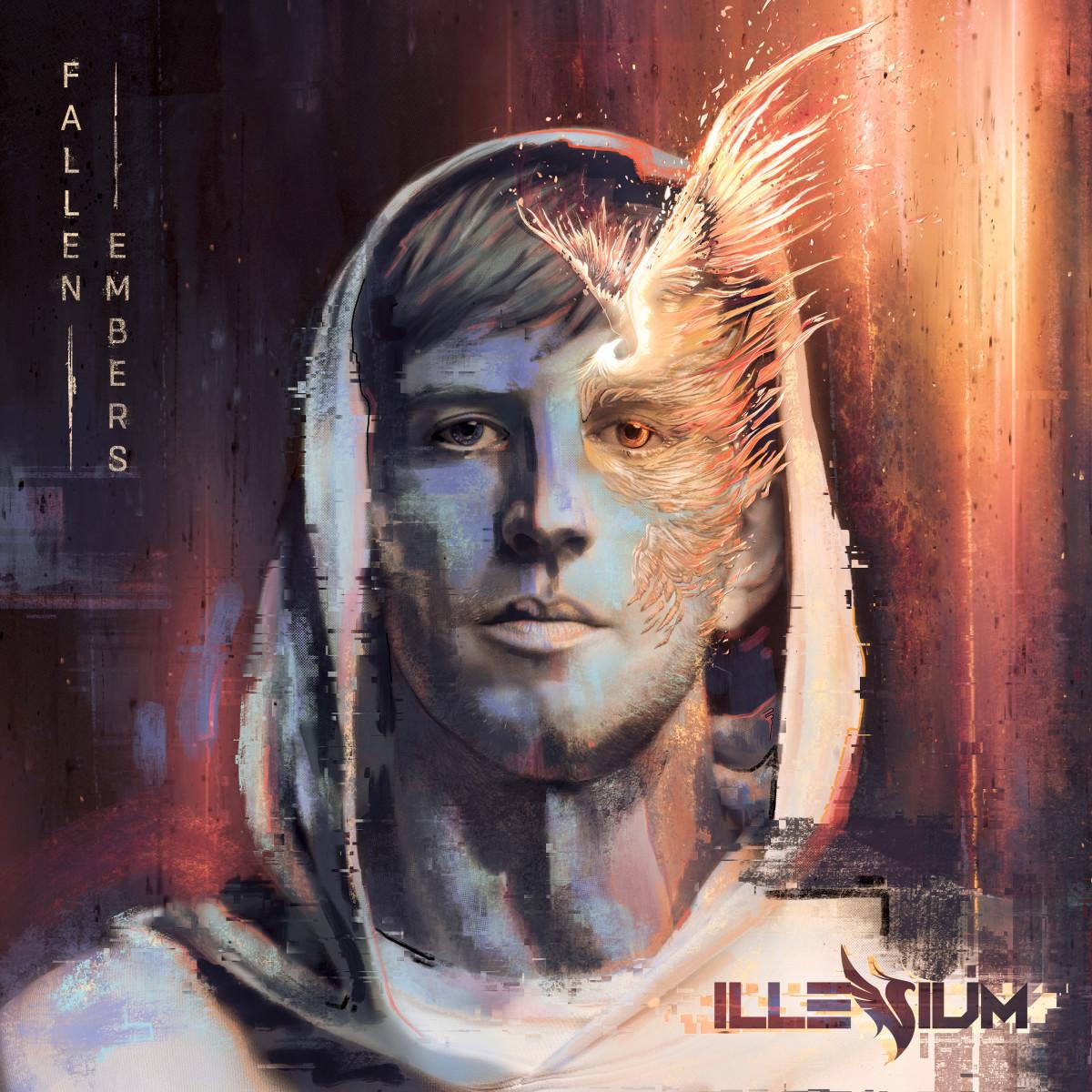 """The artwork for ILLENIUM's """"Fallen Embers"""" album."""