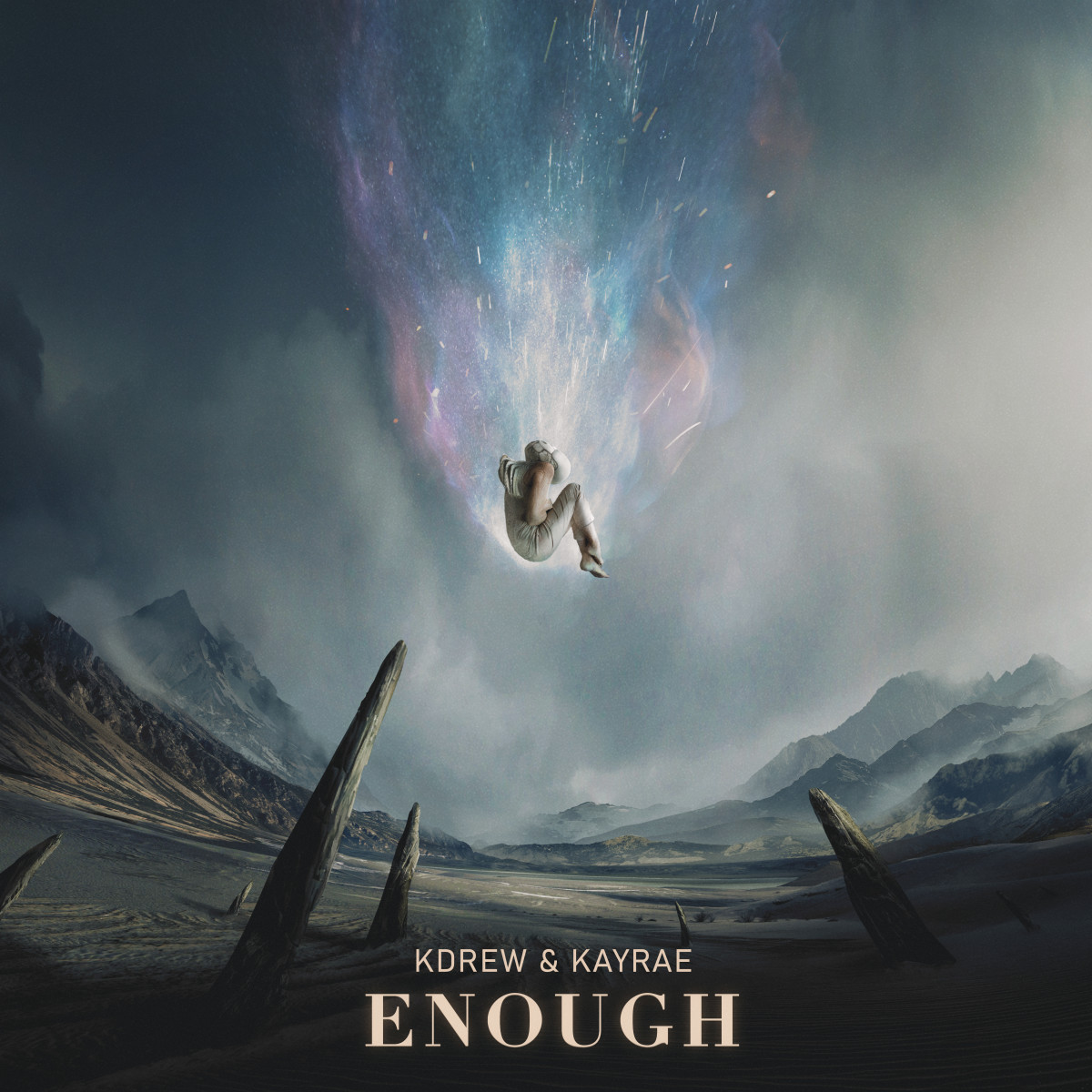 """Artwork for KDrew and Kayrae's new song """"Enough."""""""