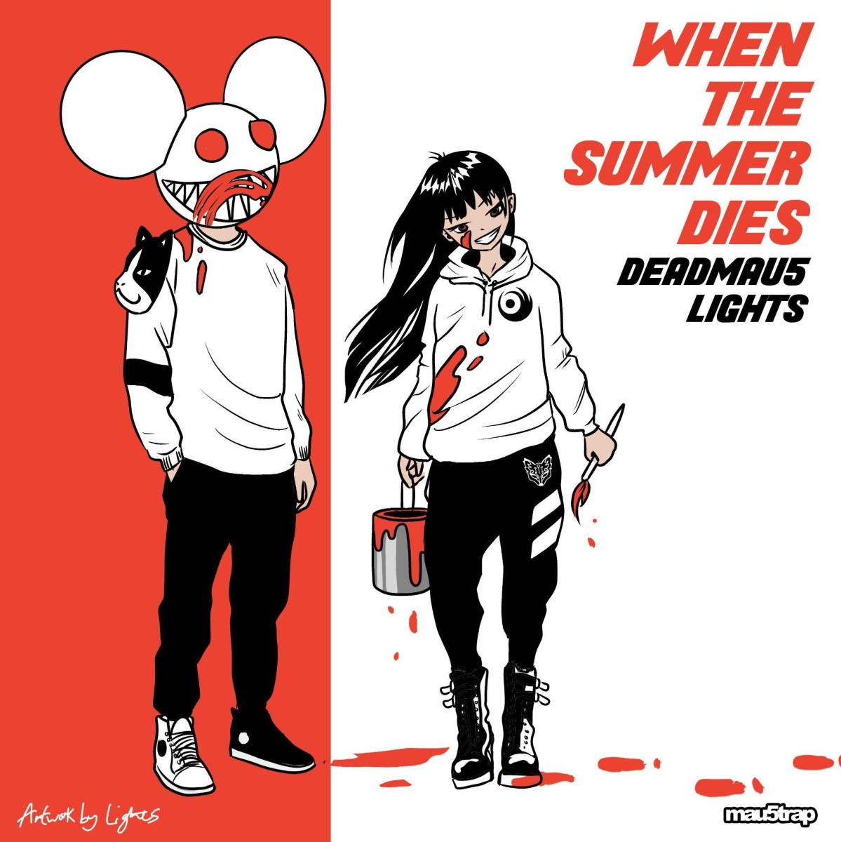 """Artwork for deadmau5 and Lights' new song """"When The Summer Dies."""""""
