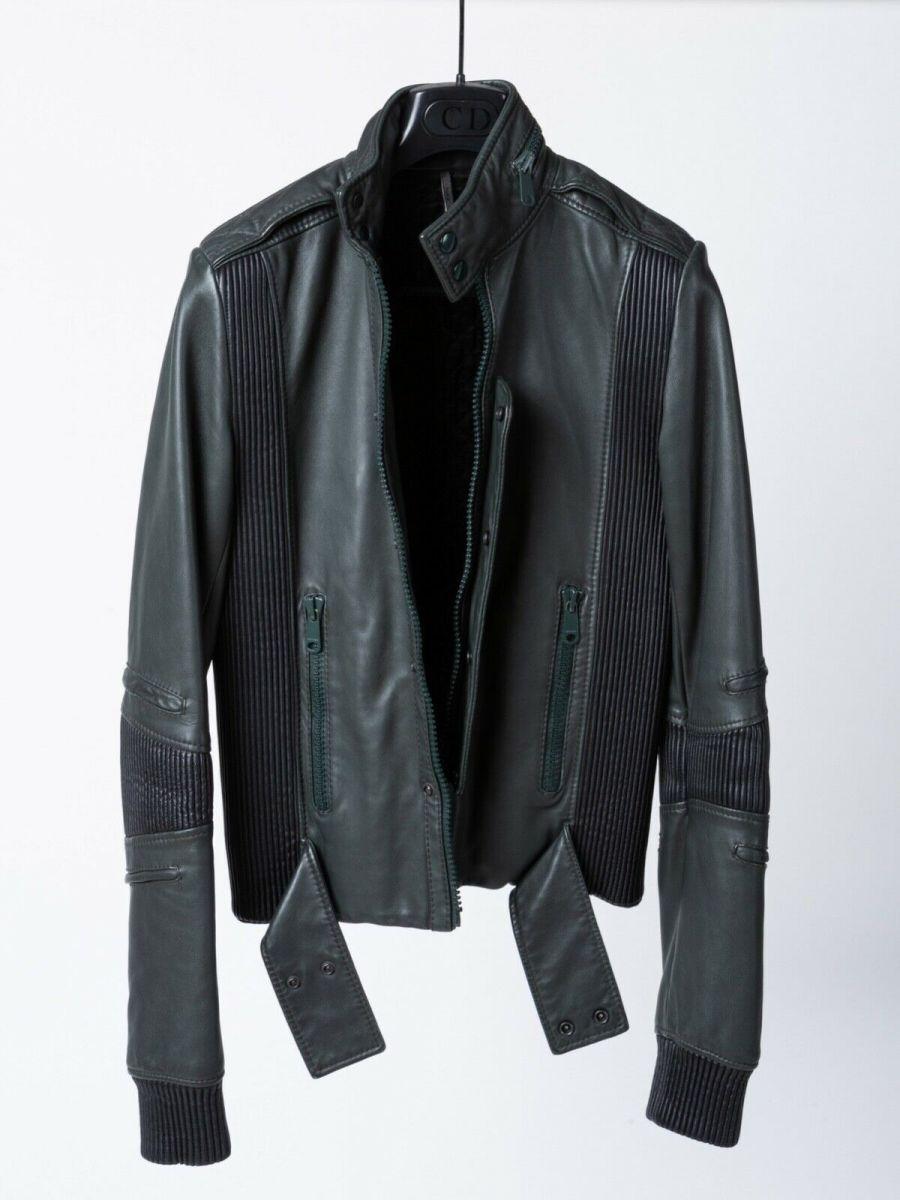 Rare leather jacket designed in 2005 for Daft Punk byformer Dior Homme creative director Hedi Slimane.