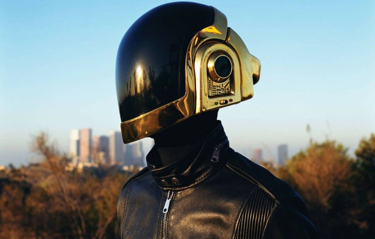 Guy-Manuel de Homem-Christo of Daft Punk wearing the rare Dior Homme leather jacket, which is on sale for $10,000.