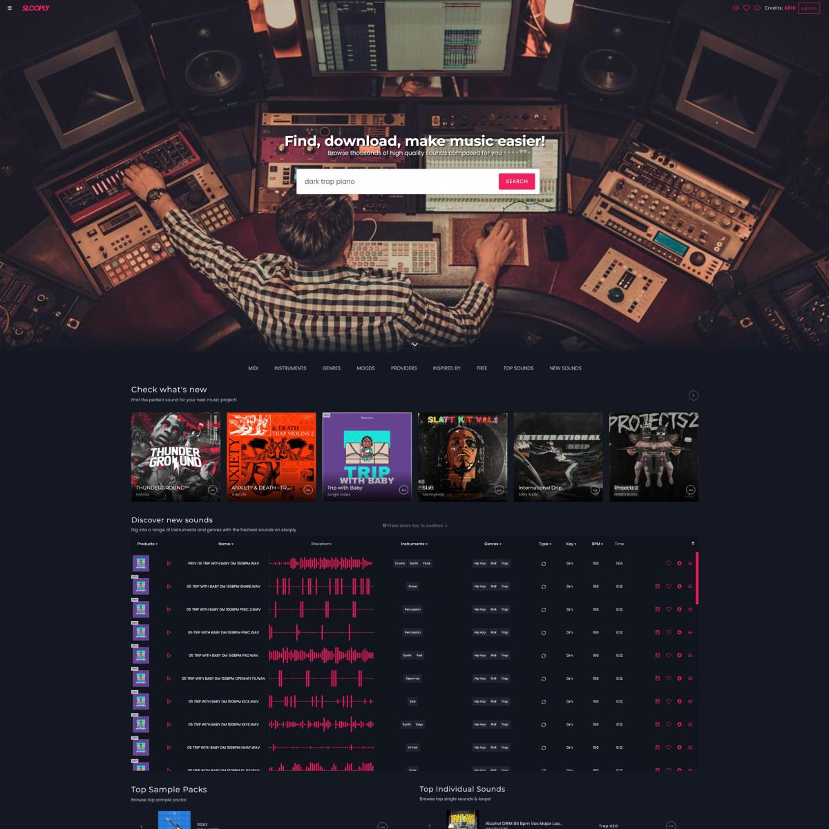 Slooply's website.