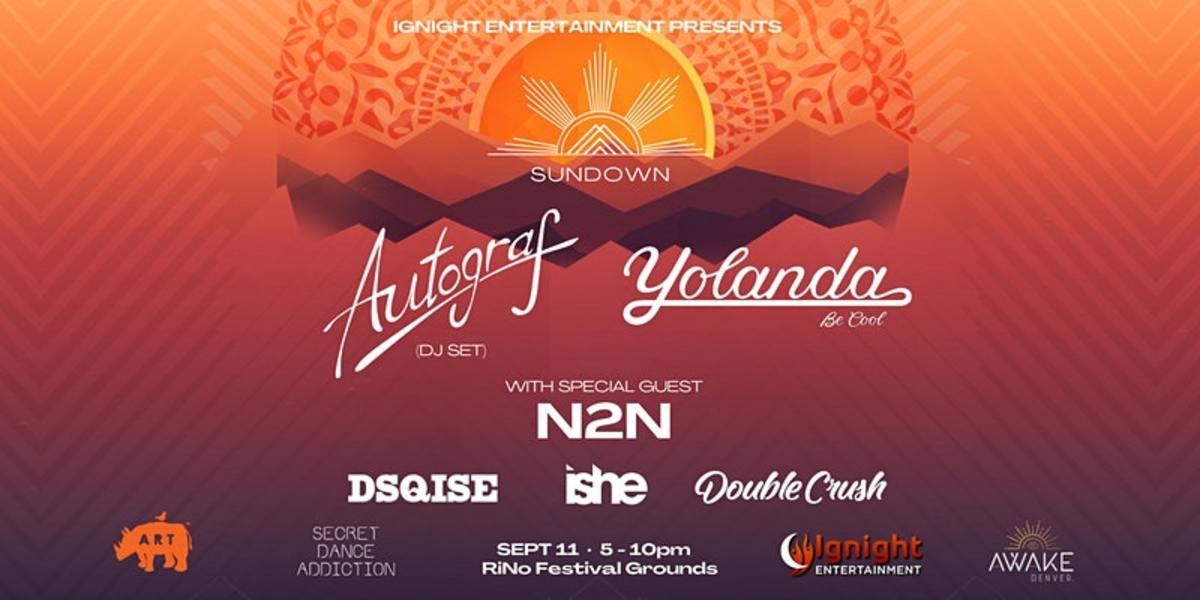 """Flyer for Sundown, Colorado's first """"detox"""" music festival."""
