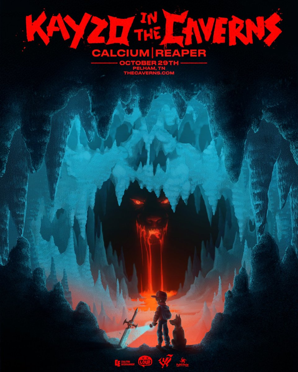 Flyer for Kayzo's Halloween 2021 show at The Caverns.