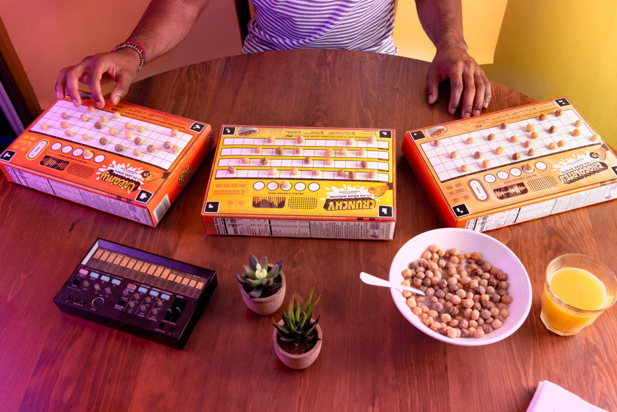 Reese's Puffs launch new campaign that turns their cereal boxes into AR app powered synthesizers.