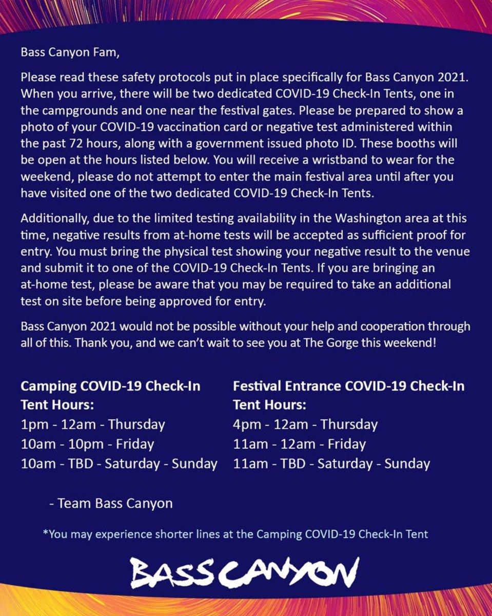 Bass Canyon COVID-19 info