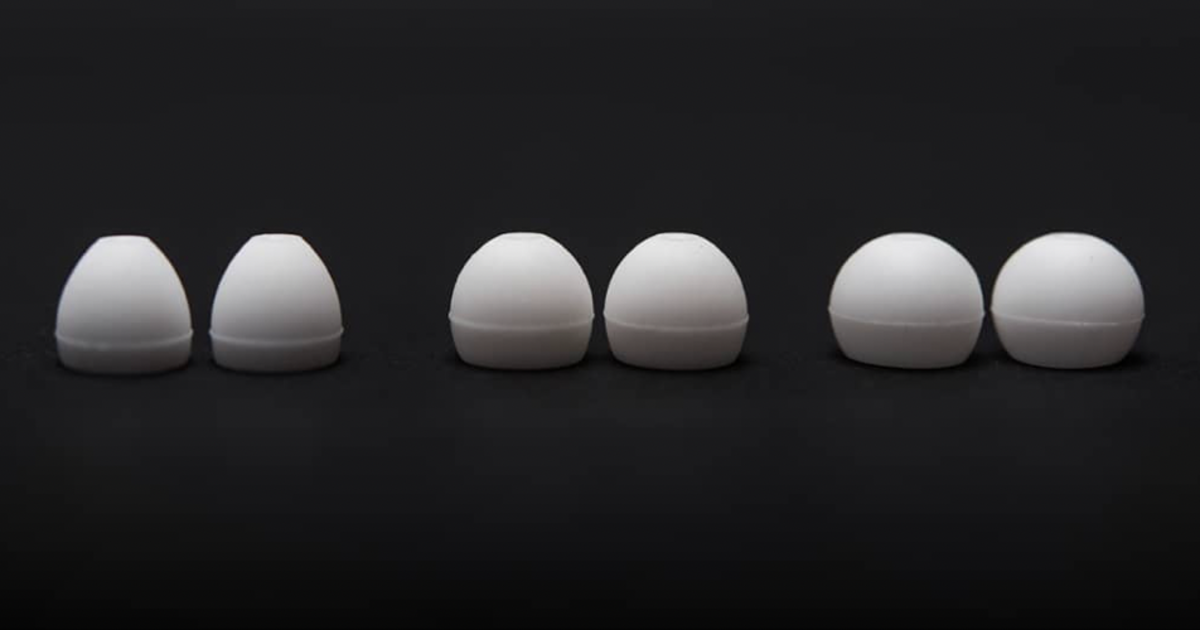 Vibes Hi-Fidelity Earplugs come with three different ear-tip sizes to ensure the perfect fit.