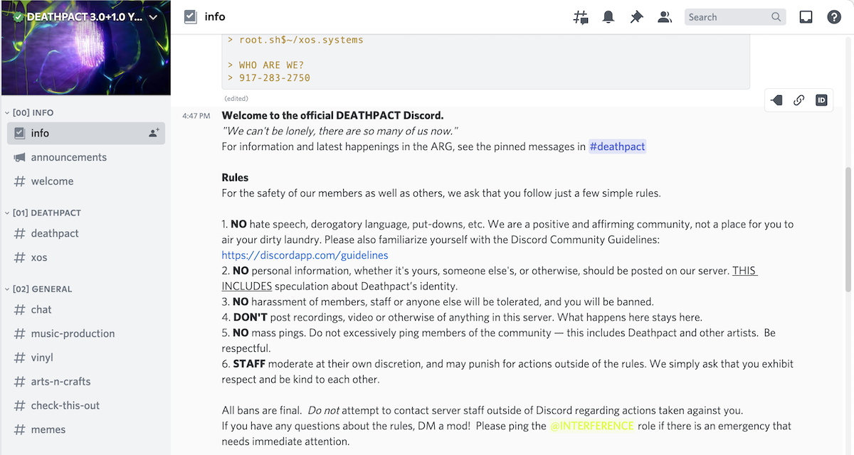 Deathpact's Deathcord Discord server