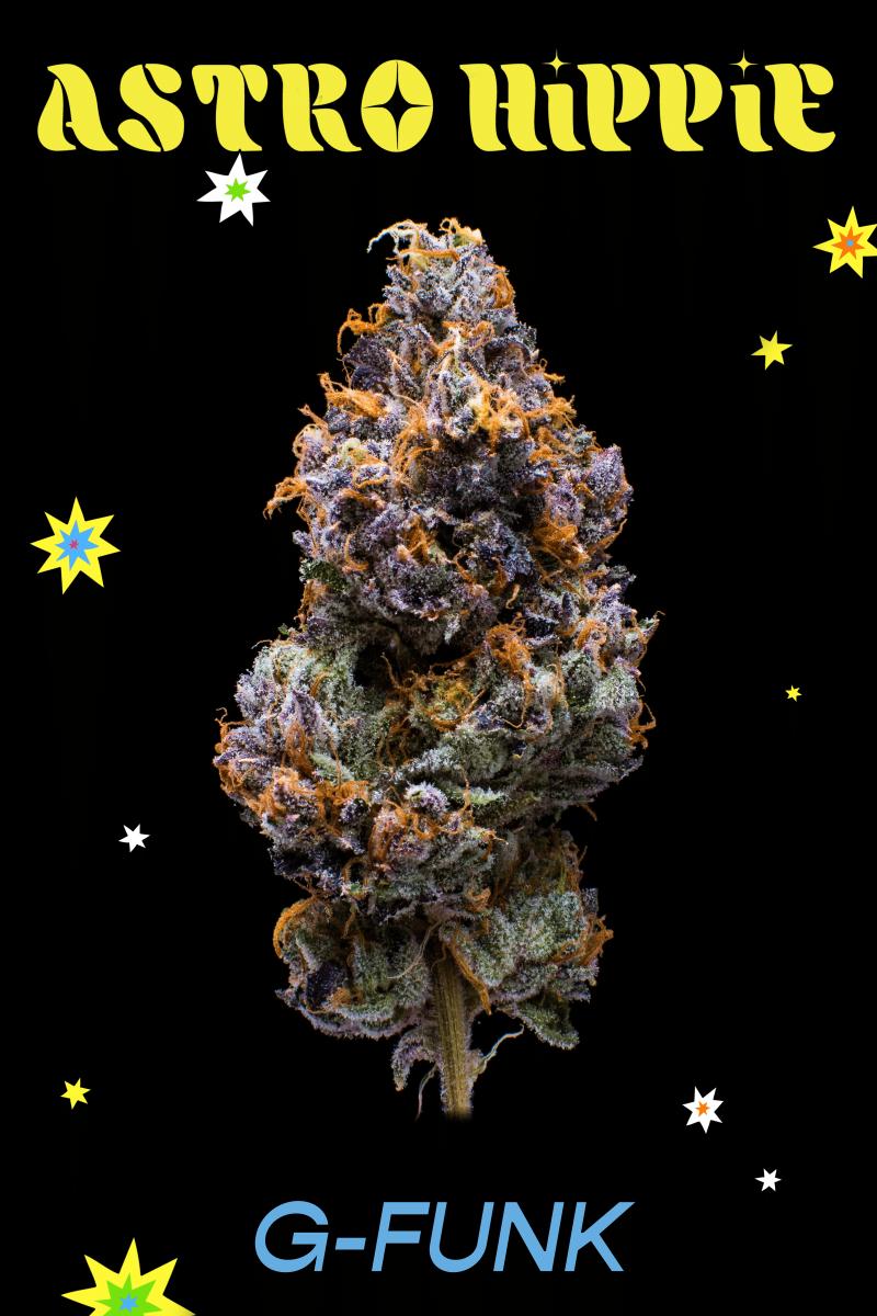 "The ""G-Funk"" strain of GRiZ's new Astro Hippie cannabis line."