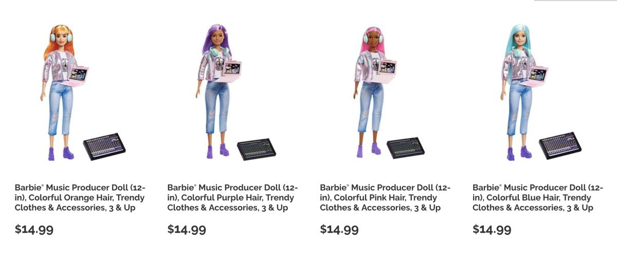 The Barbie Music Producer line.