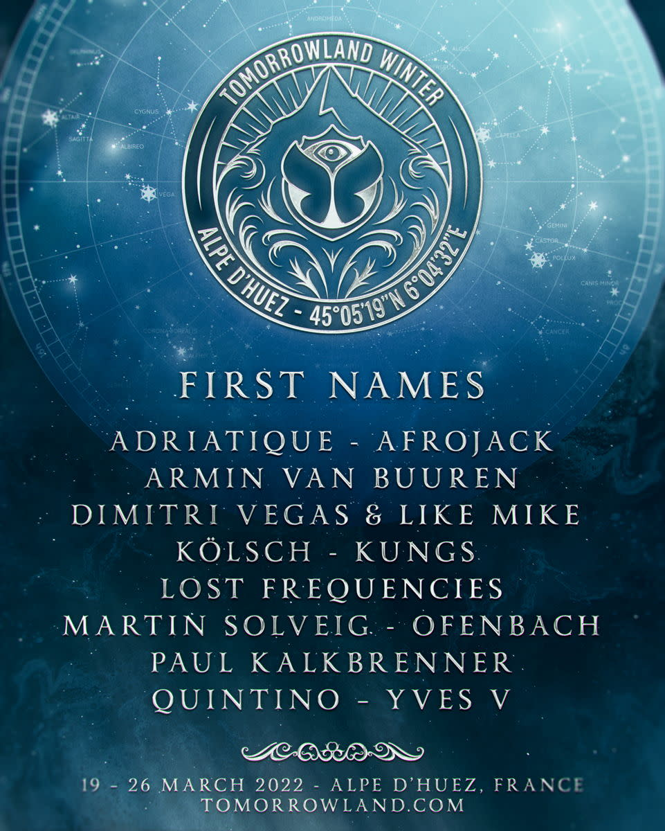 Tomorrowland Winter first names